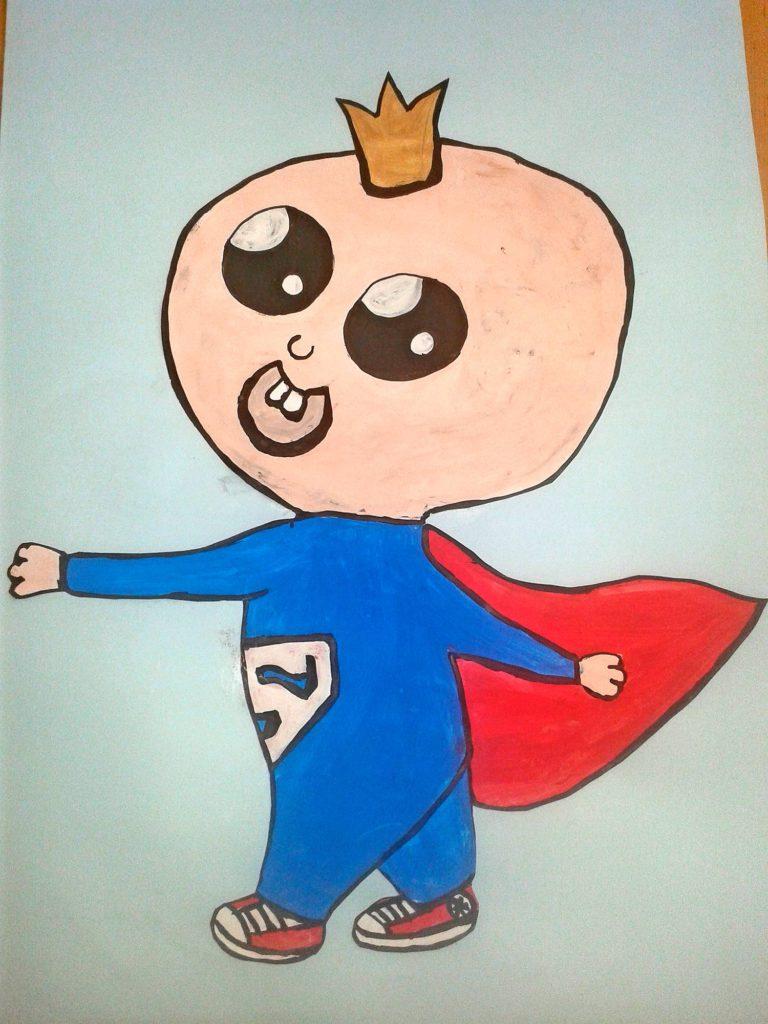 Säynätsalon Launosten koulun 5. luokan Super-Martti saa iltamaidosta supervoimia!