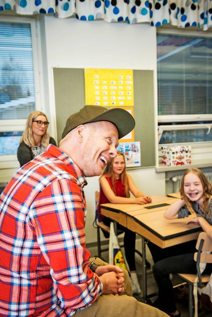 Luokassa oli rento ja hauska fiilis, ja jokainen sai vastauksen esittämäänsä kysymykseen.