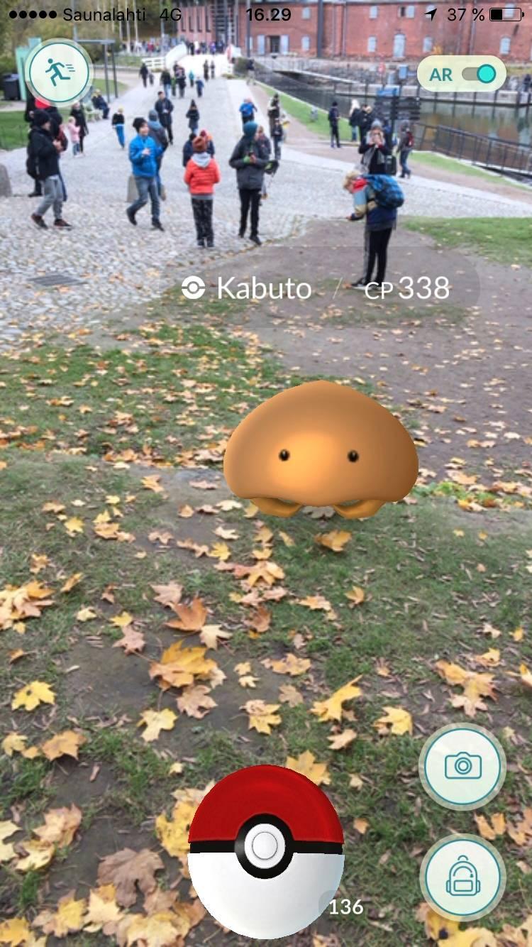 Kabuto Pokemon Go -pelissä