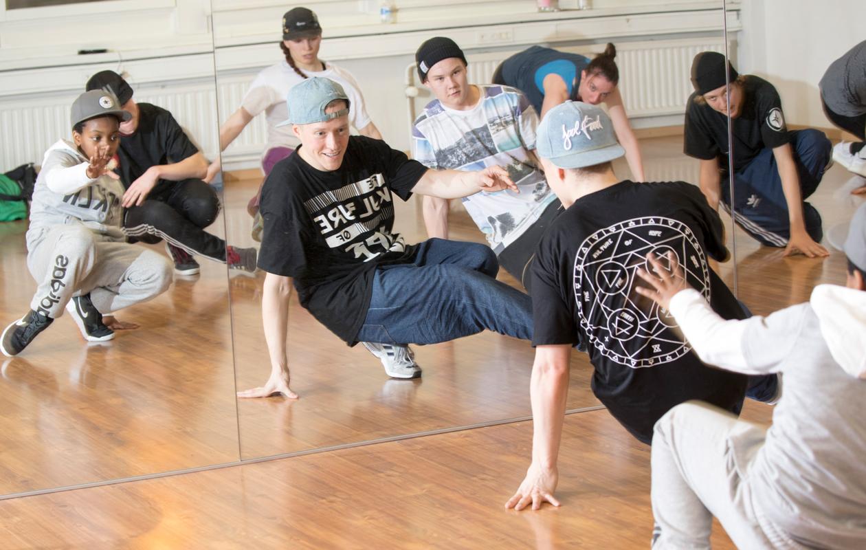 Tanssikoulu Saiffan breakdance-tunti