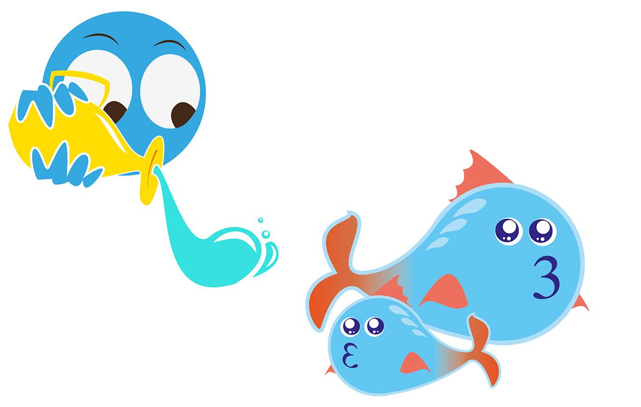 vesimies ja kalat