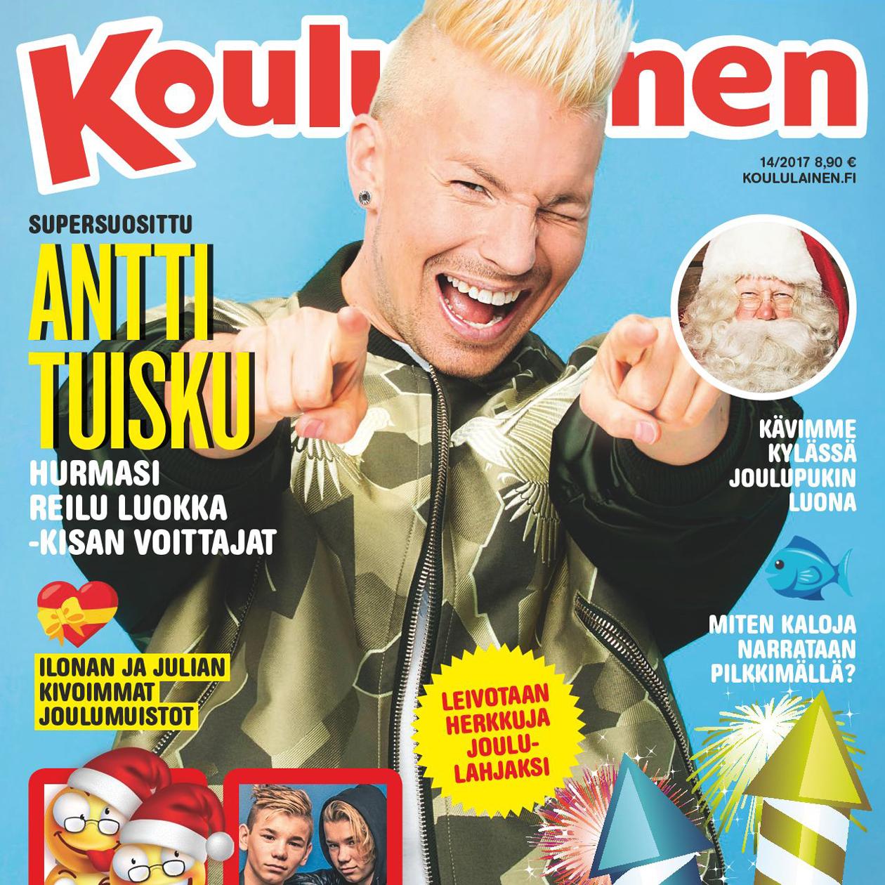Koululaisen kannessa Antti Tuisku