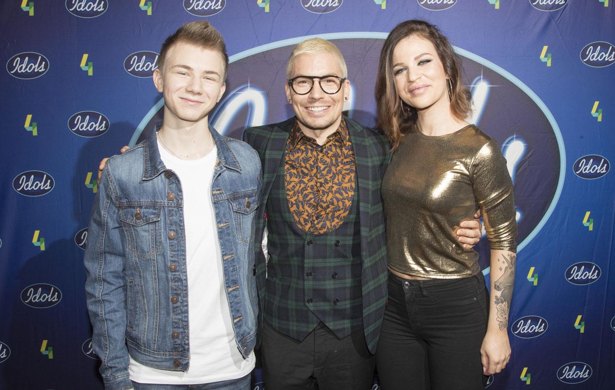 Idols-ohjelman Leevi Salonen, Julia Rautio ja Antti Tuisku