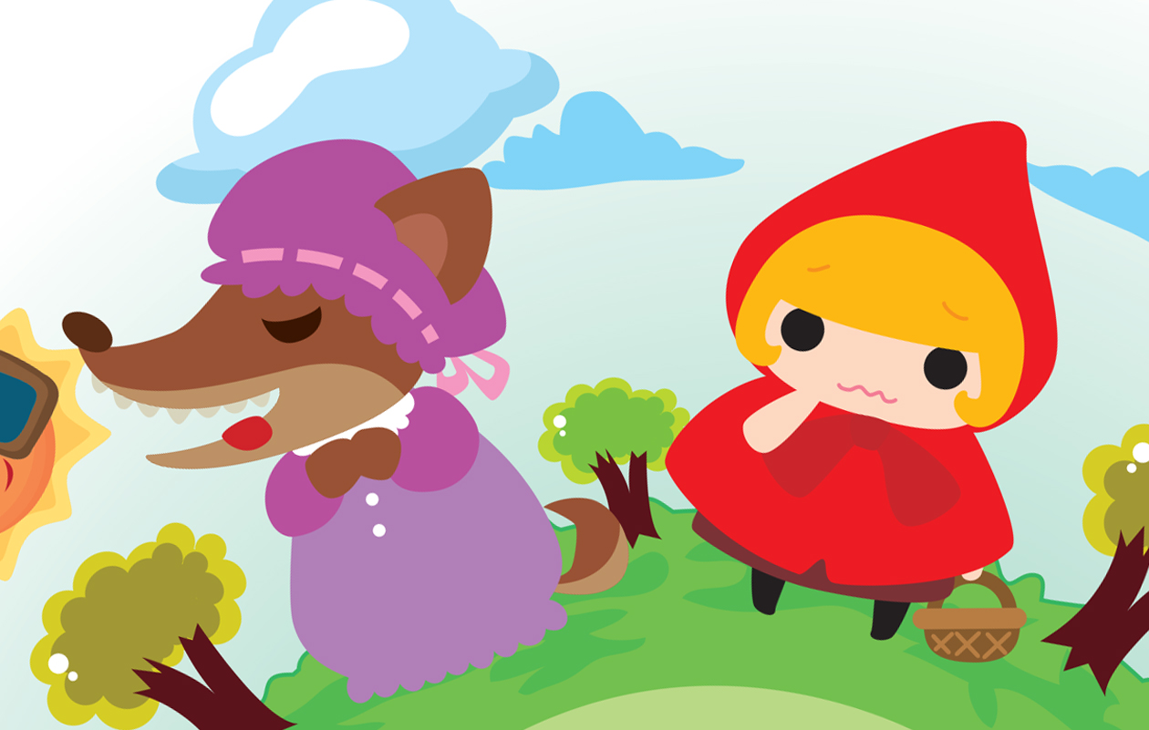 Punahilkka ja susi