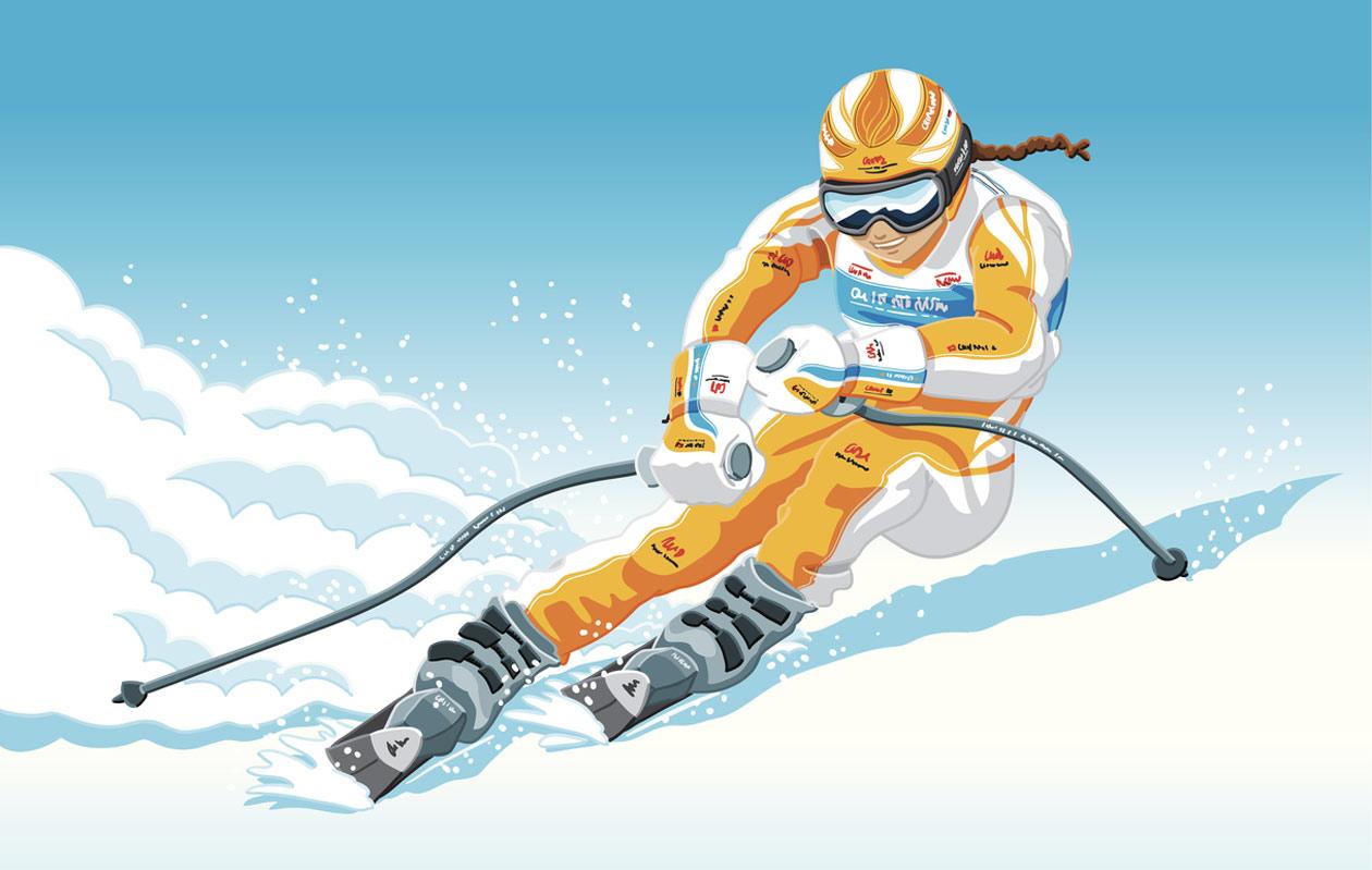 freestyle-hiihtäjä