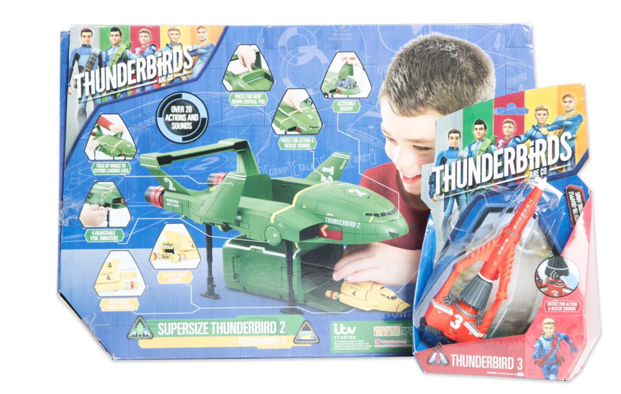 Thunderbirs-tuotteita