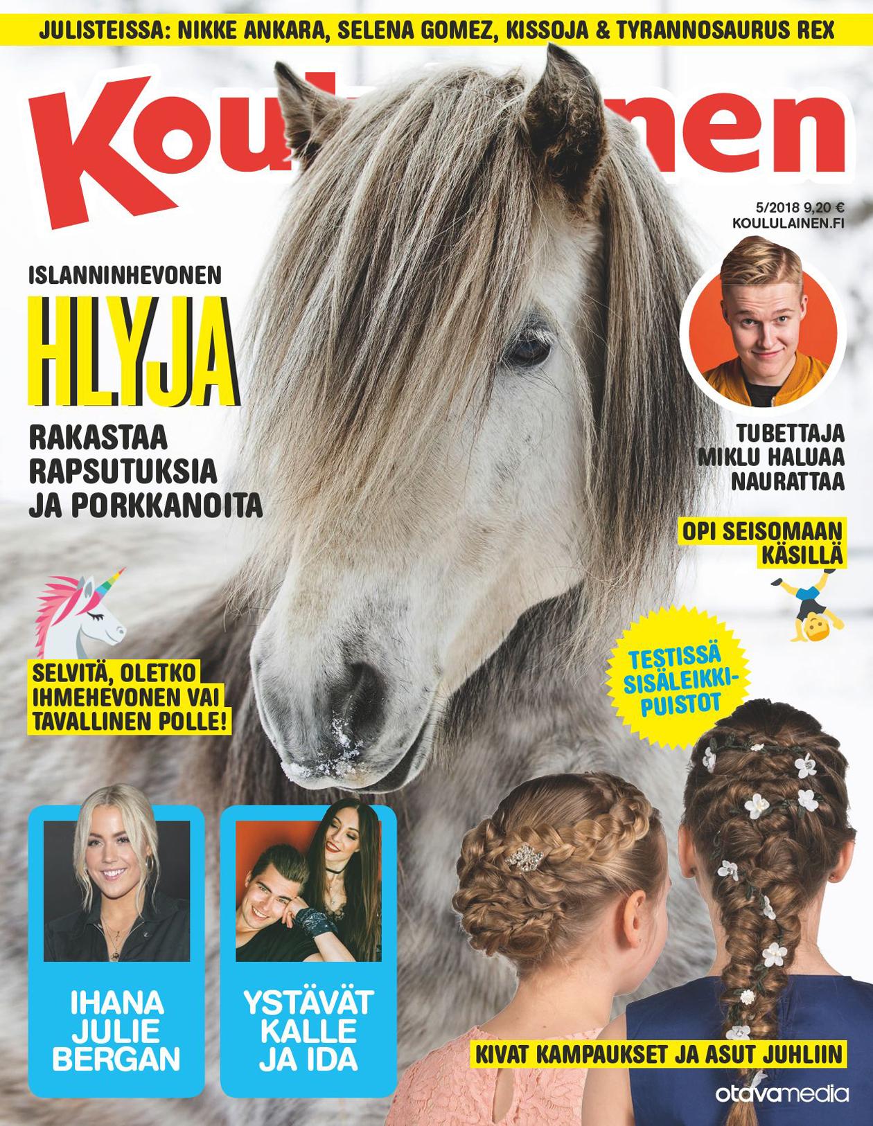 Koululaisen kannessa hevonen