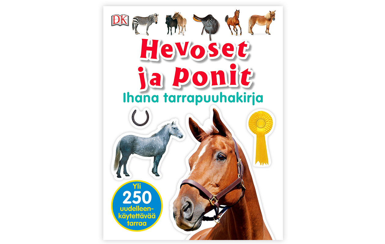 Hevoset ja ponit Ihana tarrapuuhakirja