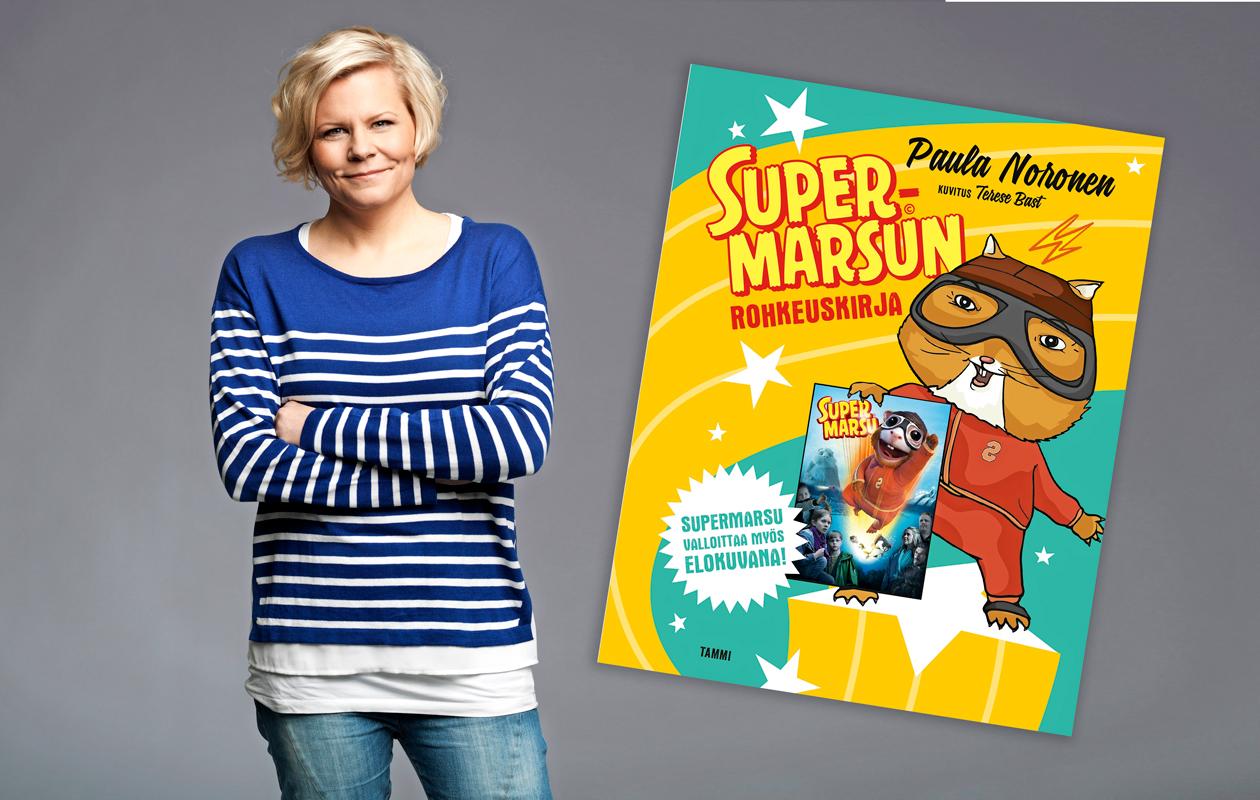 Paula Noronen ja Supermarsu-kirja