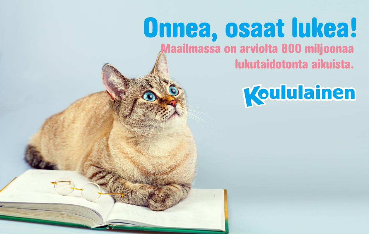 Koululaisen lukutaitomeemi Onnea, osaat lukea