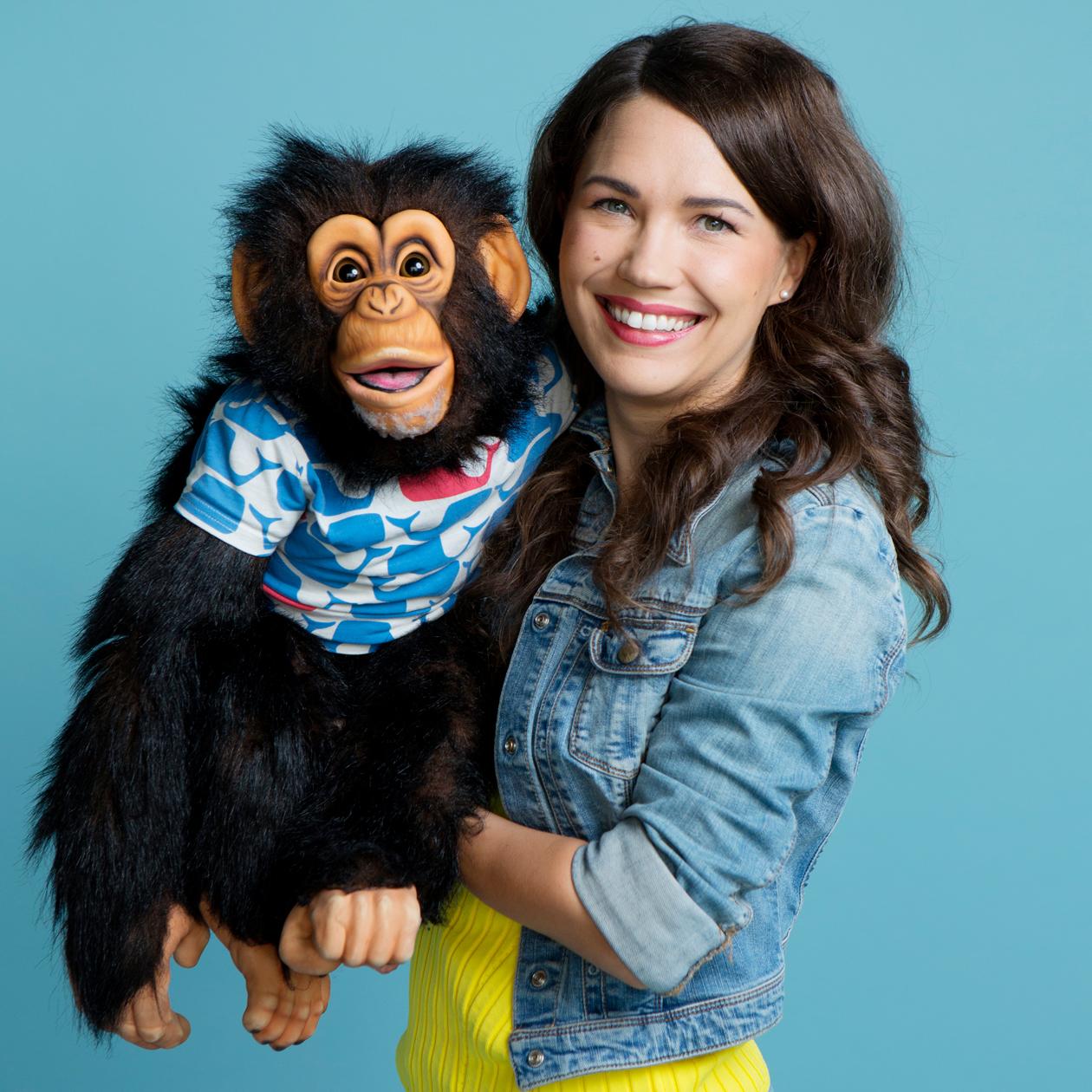 Sari Aalto ja Simpanssi-Anssi
