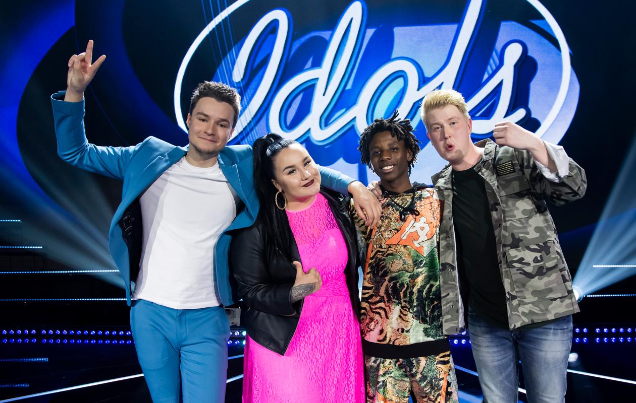 Idols-kilpailijat Patrik, Noora, Leo ja Jere