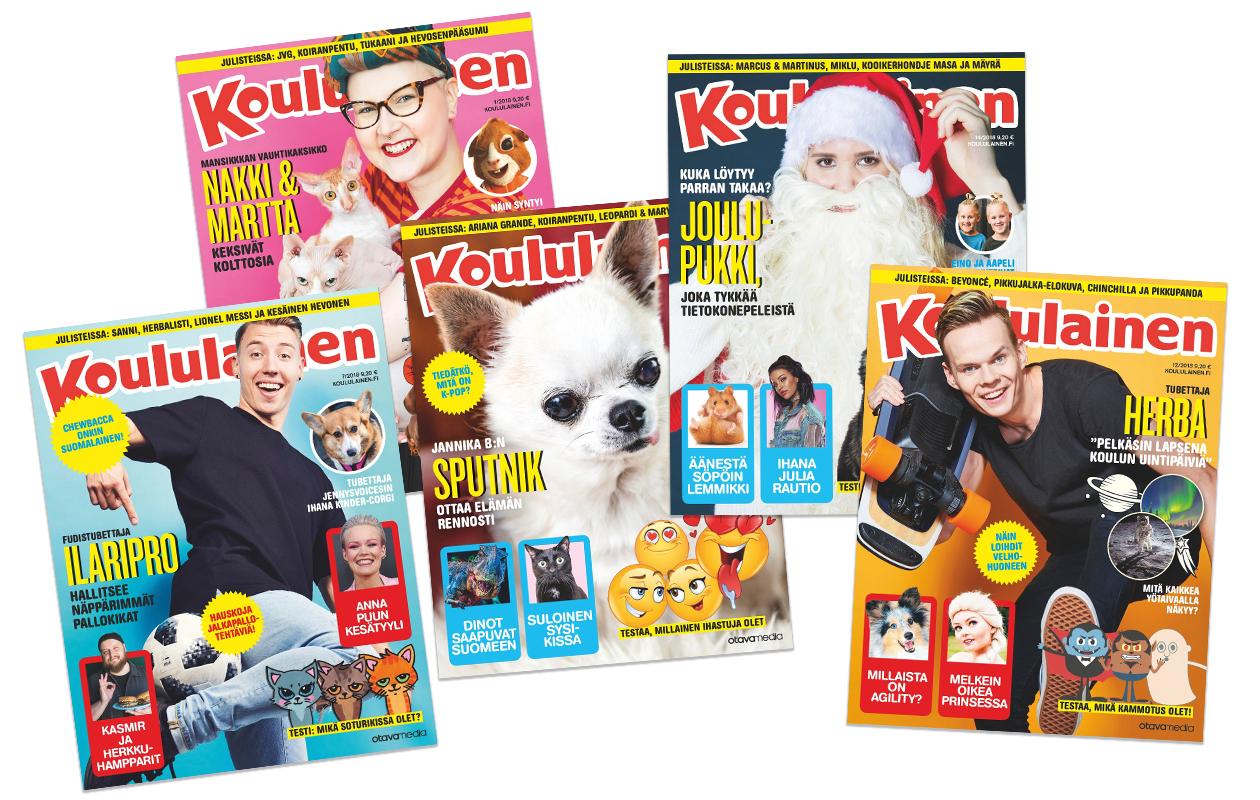 Koululaisen lehtien kansia