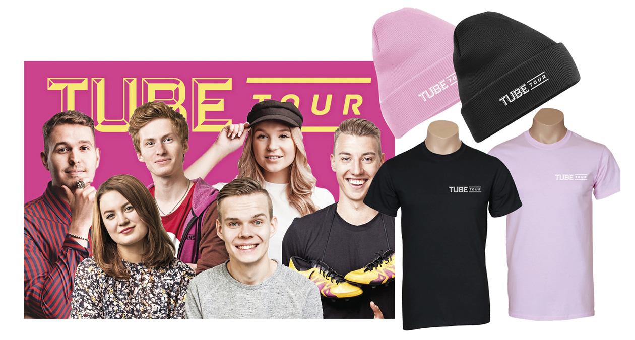 TubeTour-liput ja vaatteet