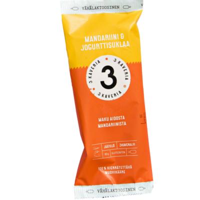 Kolmen kaverin Mandariini & jogurttisuklaa -puikko