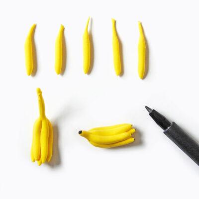 Nukkekodin ruoat: banaanit